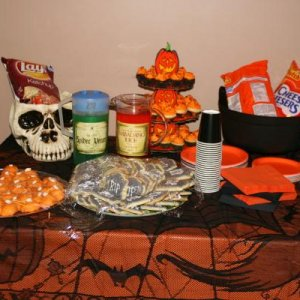 "the boys halloween playgroup spread...also had ham and cheese ""mummies"" for a bit of a lunch :D"