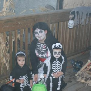 me and my boys, halloween night