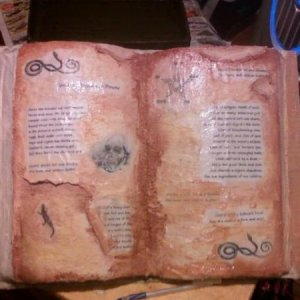 One of the many spells books.