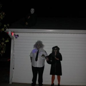 Me, the old hag witch, and jason on the roof