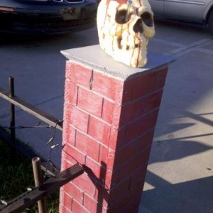 fence post, it was either the skull or a crow... think this wa the right choice.