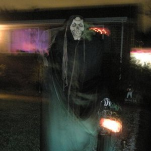 This is one of a pair of reapers I had greeting people coming down the driveway.