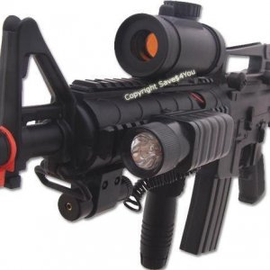M16 M4 Electric Airsoft Gun AEG Laser + Scope