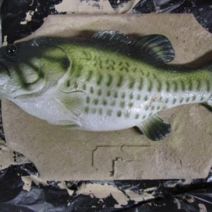 billy bass redone with sand.
