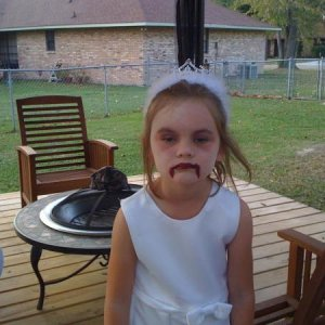 My zombie bride niece, her parents blame me for this....lol