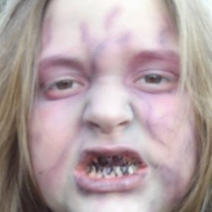 My daughter as a Zombie on Trick or Treat night