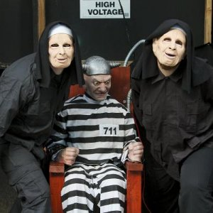 "The Nun for you, wonder what all the buzz is about as they gaurd ""prisoner magill"". photo by mcguirephoto.com"