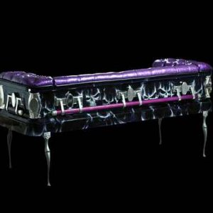 Purple Coffin Couch Back