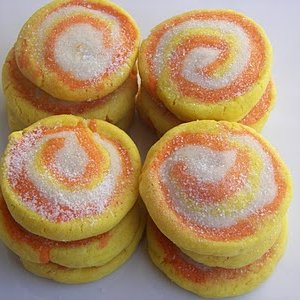 Candy Corn Cookies (Colored dough Pinwheels)