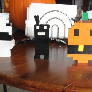 My son make some Lego halloween figures.