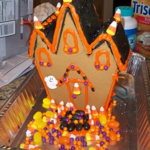 Spooky gingerbread house. Yum