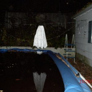 a ghost flying over our pool of doom