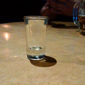 Free birthday shot - empty
