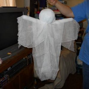 My first cheese cloth ghost