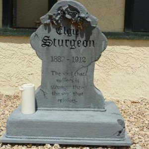 Full view of our first headstone.