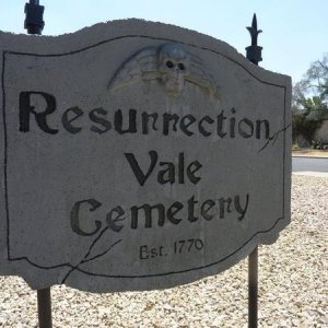 We renamed our cemetery and needed a new sign! Here it is.