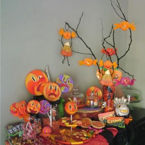 "Halloween ""Candy"" buffet by Sweet B FOlk Art  Please do not use this image without my permission"