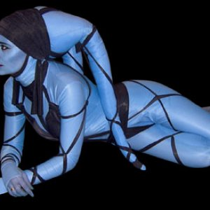 using a zentai/morph/body suit for the Twilekk costume example image