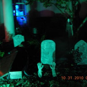 Graveyard close-up with fog chiller