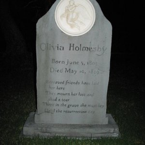 Olivia the 5th headstone we made in 2011.