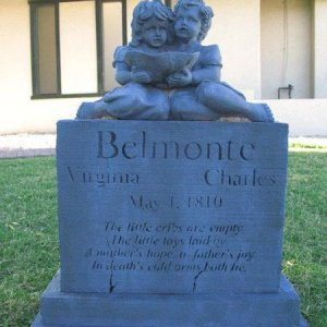 The Belmonte twins was the second headstone we made. 2011