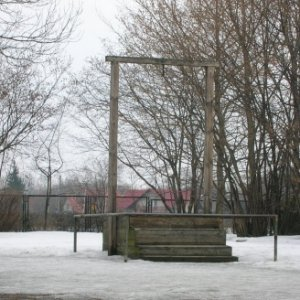 Auschwitz   Gallows-probably the most evil gallows ever made by man, but in this case an idea for a prop