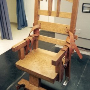 electric chair image.  I probably won't even attempt the angles or curves on this one but it gives me an idea of scale