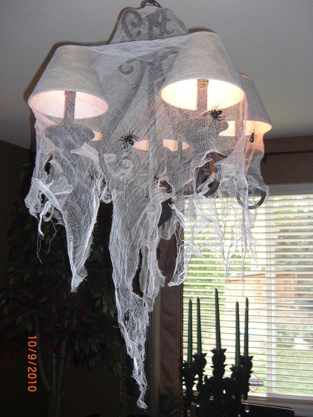 favorite halloween decorations chandelier spider web - Halloween Spider Web Decorations