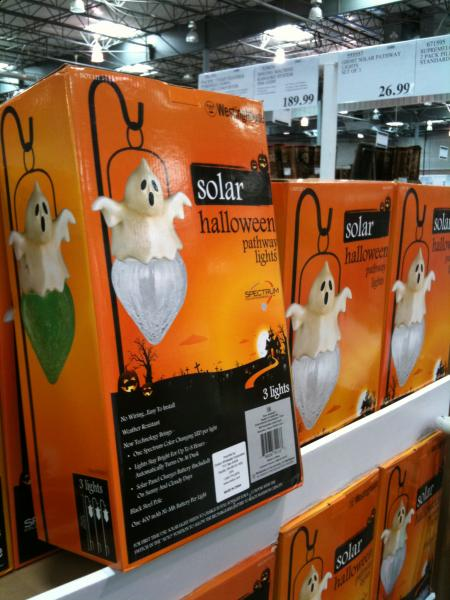 solar color changing pathway lights by westinghouse set of 3 - Halloween Pathway Lights