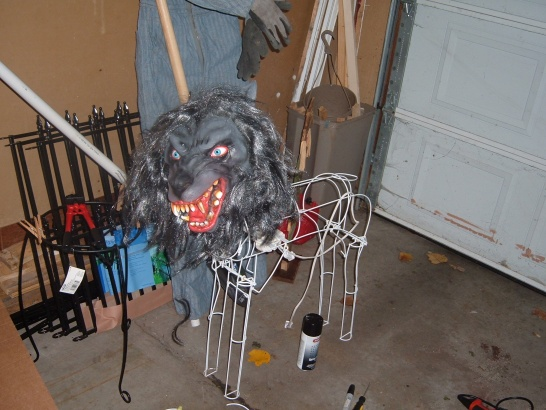 sacrificed a moving reindeer to the halloween gods now i just need to finish building