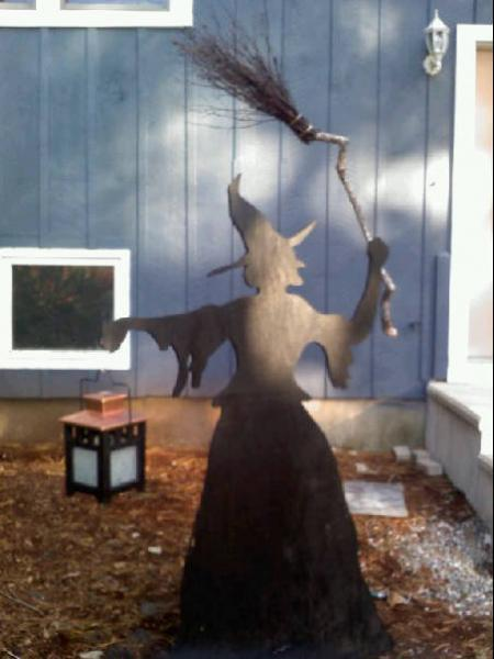 This Is A Life Size Witch Silhouette Made By My Brother In Law So Cool