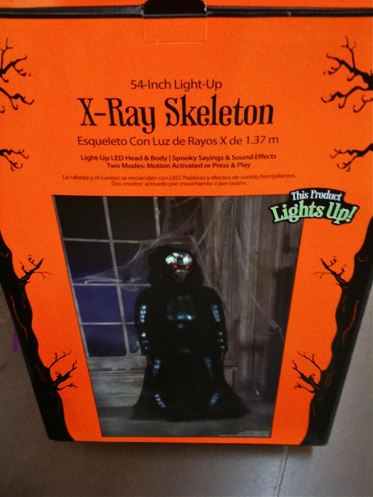 walmart 2011 x ray skeleton 5999 light up led head and